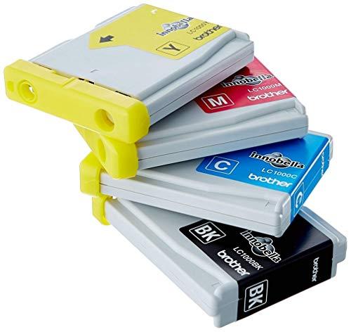 Brother LC1000VALBP - Cartucho de tinta, multi-pack (negro, amarillo, magenta, cian)