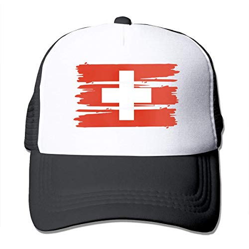 Trucker Hat Schweiz Flagge Airmesh Cap S Hip Hop, Klassiker, Papa Hüte, Erwachsene, Personalisiert, Snapback Cap, Winddicht, Baseball Cap, Sonnencreme, Sommer, Verstellbar, Trucke