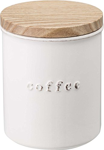 Yamazaki Home Tosca Ceramic Canister – Dry Food Kitchen Storage Container Organizer