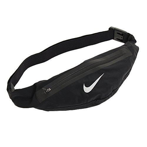 Nike Angled Waistpack - Riñonera para Adultos, Color Negro y Plateado