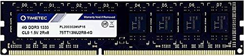 Timetec Hynix IC 4GB DDR3 1333MHz PC3-10600 Unbuffered Non-ECC 1.5V CL9 2Rx8 Dual Rank 240 Pin UDIMM PC Sobremesa Memoria Principal Module Upgrade (4GB)