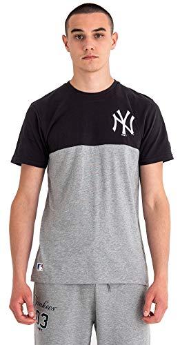 New Era MLB Colour Block tee Neyyan Camiseta, Hombre, Grey, S