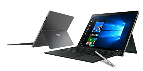 Asus T303UA-GN060R Transformer Book, LCD 12.6' WQ+, Touchscreen, Processore Intel Core i5-6200U, RAM 4 GB, SSD 512 GB, Grigio