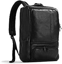 eBags Pro Slim Leather Laptop Backpack (Black)