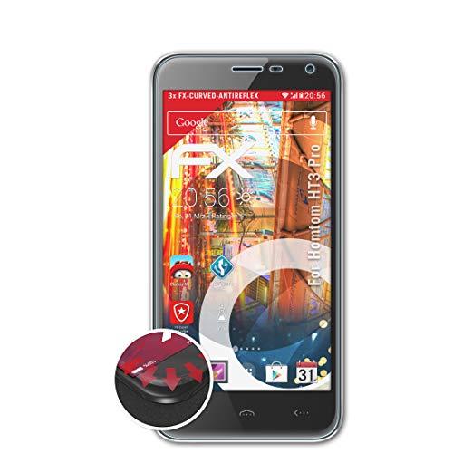 atFolix Schutzfolie kompatibel mit Homtom HT3 Pro Folie, entspiegelnde & Flexible FX Bildschirmschutzfolie (3X)