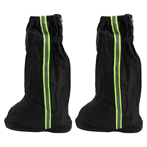 Happyyami Cubiertas de Zapatos de Lluvia de Tela Oxford Impermeables para Botas de Calzado Fundas de Piernas para Exteriores Tamaño M