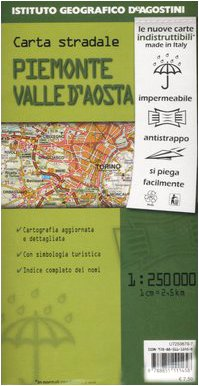 Piemonte, Valle d'Aosta 1:250.000 (Carte in PVC)