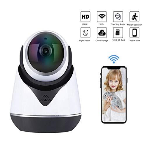 Thinlerain Mobile überwachungskamera,uberwachungskamera aussen WLAN Haustier Kamera,mit 350°/100°Schwenkbar, Zwei-Wege-Audio,unterstützt Fernalarm und Mobile App Kontrolle