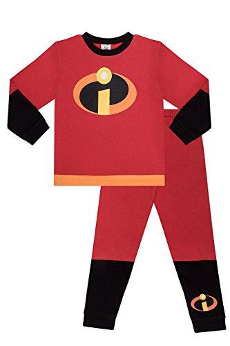 Disney The Incredible Kostüm Long Boys Pyjamas PJs Girls Die Unglaubliche Pyjama (6 Jahre 116cm)