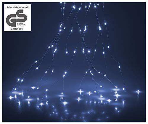 LED Lichterbündel mit 300 LEDs kaltweiß Lichterregen LED Stränge Lichterstränge Lichterbüschel Lichterstrang Lichterkette Wasserfall innen außen