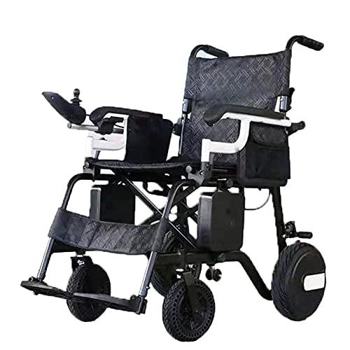 LFLLFLLFL Elektrorollstuhl, Faltbarer Rollstuhl Luxus-elektrischer Rollstuhl, Elektrisch Faltbar, EIN Handlift, Intelligentes Bremssystem, Auto-Speicher-Schaumkissen (weiß)