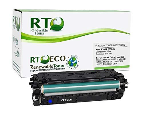 Renewable Toner Compatible Toner Cartridge Replacement for HP 508A CF361A Laserjet Enterprise MFP M577 M553 (Cyan)