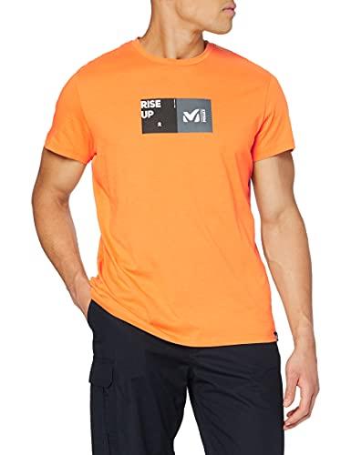 Millet - Square Tss SS M - T-Shirt d'Escalade Homme , Orange (Kumquat), XXL