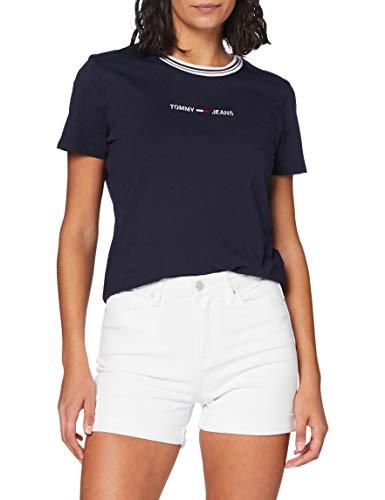 Tommy Hilfiger Damen Rome Hw Short Clr Straight Jeans, Weiß, W27/L30 (Herstellergröße: NI27)