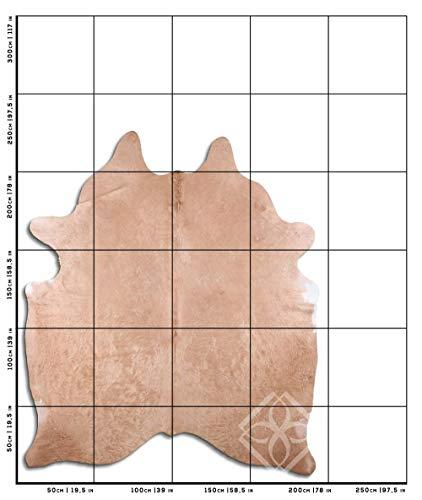 Euroskins Koeienhuid - Vloerkleed - Blond/Donkerblond/Beige - 217x191 - Claire