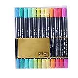 P12cheng Juego de pinceles de dibujo, 12/24/36 colores, acuarela, resistente al agua, 2 cabezales, lápices de dibujo artístico, para estudiantes – 2