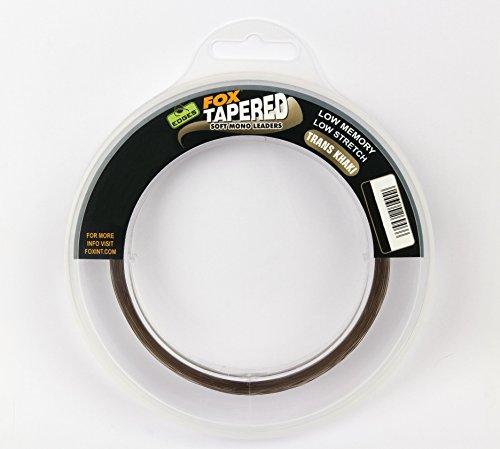 FOX Edges Soft Tapered Leaders Trans Khaki 3 x 12m - Schlagschnur zum Karpfenangeln, Karpfenschnur, Schnur zum Angeln auf Karpfen, Durchmesser/Tragkraft:0.33mm-0.50mm / 12lbs-30lbs Tragkraft