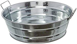 American Metalcraft MTUB10 Natural Galvanized Steel Tub with Side Handle, 88-Ounce, 10