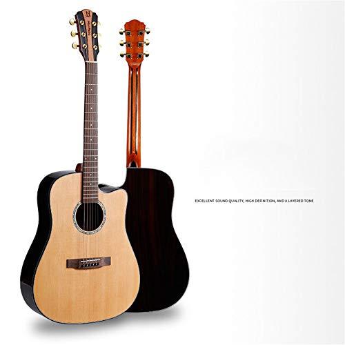 Ning Night Guitarra Folk 41 Pulgadas Ingerman Spruce Placa del Palo De Rosa Brillante Madera Contrachapada Guitarra Volver Material De Los Laterales De Palisandro Cerrado Perilla
