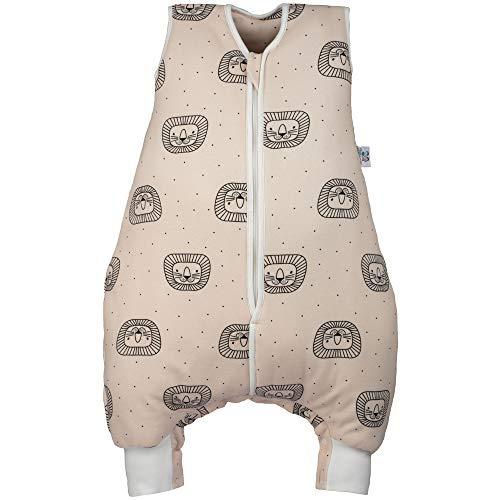 Hosenmax Babyschlafsack mit Beinen – Bio Baumwolle – entspricht TOG 2,5 – Ganzjahres Schlafsack Baby – Verspielter Löwe Größe 56/58 cm – Gratis E-Book