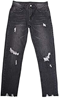 [DOWBL] Tattered Damage Skinny Denim