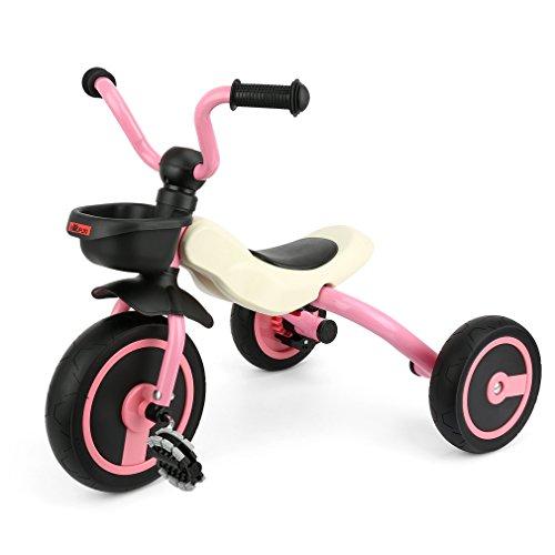 GOSFUN Triciclo con Función Plegable para Niños de 2-5 Años, Triciclo...
