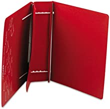 CHARLES LEONARD Varicap6 Expandable 1 To 6 Post Binder, 8-1/2 x 11, Red (Case of 4)