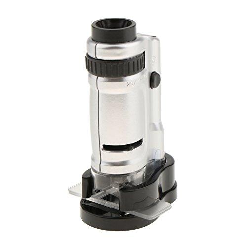 dailymall 20 40X Mikroskoptasche LED Handlupe Zoom Einstellbare Vergrößerung