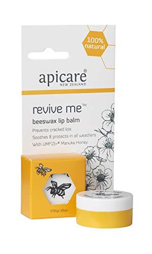 Apicare Manuka Honig Natur-Kosmetik, frei von gefährlichen Zusatzstoffen, mit einem hohem Manuka Anteil, mehrfach prämierte Kosmetik (Revive Me Lip Balm | Intensiver Lippenbalsam, 10g)