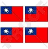 Taiwan taiwanesischen Flagge, Republik China, Roc 5,1cm (50mm) Vinyl bumper-helmet Sticker, Aufkleber X4