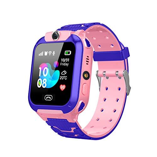 Aivtalk - Reloj para Niños Niñas Reloj Inteligente Teléfono con Cámara AGPS Smartwatch Silicona Reloj Digital Infantil - Rosa