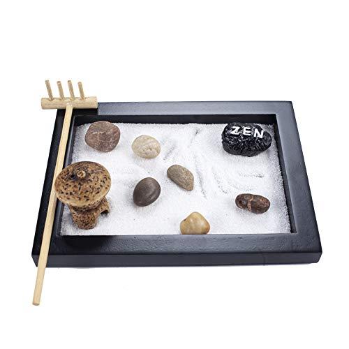 Japanese Zen Sand Garden Mini Meditation Zen Garden Table Décor Kit with Accessories GR029