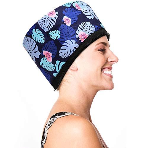 Alotlucky Casques Chauffant Cheveux, Bonnet Chauffant Électrique, Casque Soin Cheveux, Traitement Thermique pour Soins Capillaires, Bonnet Chauffant Cheveux, Température de 2 Modes Disponible (bleu)