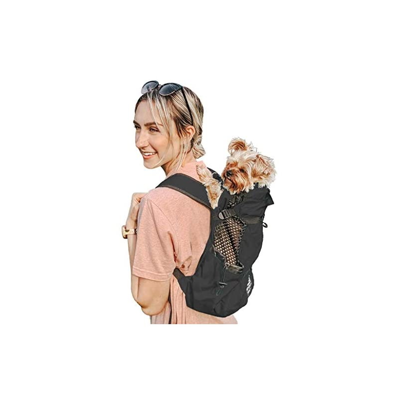 dog supplies online k9 sport sack   dog carrier backpack for small and medium pets   front facing adjustable dog backpack carrier   fully ventilated   veterinarian approved (x-small, air - jet black)