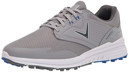 Callaway Men's Solana SL Golf Shoe, Grey/Blue, 10