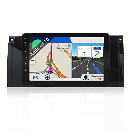 JOYX Android 10 Autoradio Passt für BMW M5 / E39 / E53 Navigation - GPS 2 Din - Rückfahrkamera Canbus KOSTENLOS - 2G+32G - 8 Zoll - Mit Lenkradsteuerung Dab+ 4G WiFi Bluetooth CarAutoplay Google USB