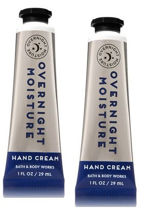 Bath and Body Works 2 Pack Overnight Moisture Hand Cream 1 Oz.