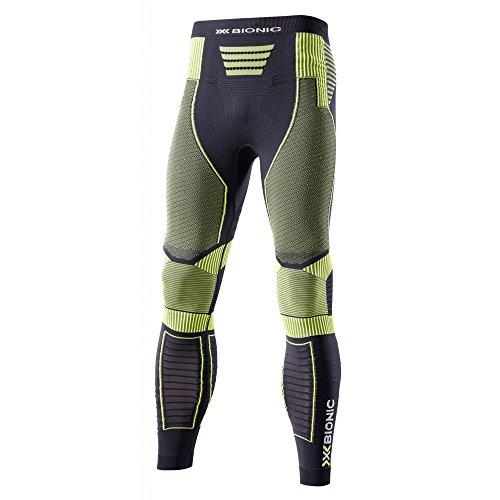 X-Bionic O020569 Pantalon Homme, Noir/Jaune, FR : 2XL (Taille Fabricant : XXL)