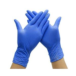 Yarnow Guantes de Nitrilo 50Pcs – Guantes de Examen de Nitrilo Médico Grado Alimenticio Guantes Desechables de Nitrilo para El Trabajo Médico Alimentos Seguros Limpieza