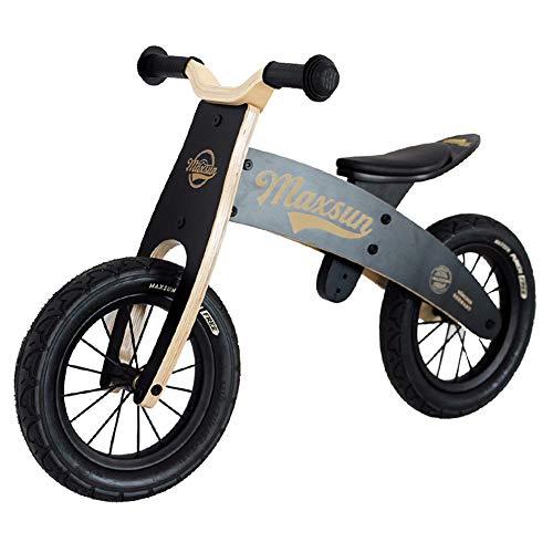 SJZX Bicicleta Sin Pedales Equilibrio Madera para NiñOs Asiento Ajustable Bici Entrenamiento Ligera 2 A 6 AñOs 1925
