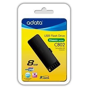 ADATA Classic Series C802 8 GB USB 2.0 Flash Drive AC802-8G-RBB