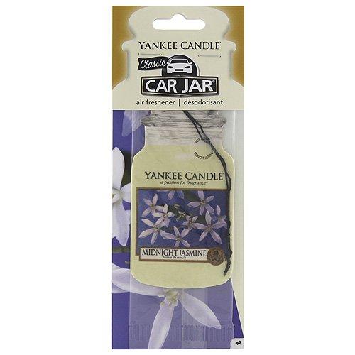 Yankee Candle Midnight Jasmine Single Jar Shaped Car Air Freshener, White, 7.8x19.7x1 cm