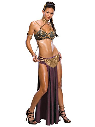 Rubie's Women's Star Wars Jabba's Prisoner Princess Leia Costume, As Shown, Large