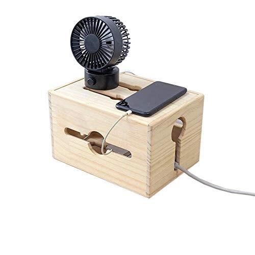 JCNFA Planken Houten Koord Organizer, Kabelbeheer Doos, Power Stripe, Draad, USB Hub, Voor Desktop Home Office,4 Maten 9.84 * 7.08 * 5.90in Hout