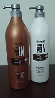 Recamier Saloon In Hydra Repair Shampoo & Conditioner Set Dry And Damaged Hair | SalonIn Cabello Secos Y Dañados Hidrata Nutre Y Repara Instantáneamente Kit 33.8Oz-1000ml