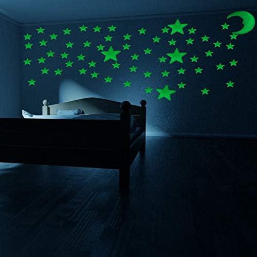 220pcs Luminous Wall Stickers Glow in The Dark Stars Luminous Stars Stickers Create a Realistic product image