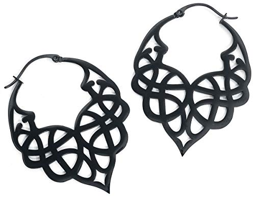 Wildcat Celtic Tribal Hoops Frauen Ohrring schwarz Edelstahl Fashion & Style
