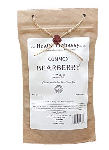 Health Embassy Bärentraubenblätter Tee (Arctostaphylos Uva-Ursi) / Common Bearberry Leaf Tea, 100g