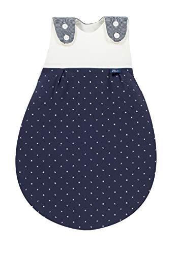 Set ALVI Baby Mäxchen Außensack Schlafsack mit Stoffwindel von Kinderhaus Blaubär/Ganzjahresschlafsack mitwachsend/Babyschlafsack ÖKO Tex geprüft, Größe:56/62, Design:LaLeLu