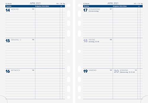BRUNNEN 1079100001 Wochenkalendarium, Zeitplansysteme, 2021, 2 Seiten = 1 Woche, Blattgröße 14,8 x 20,8 cm, A5